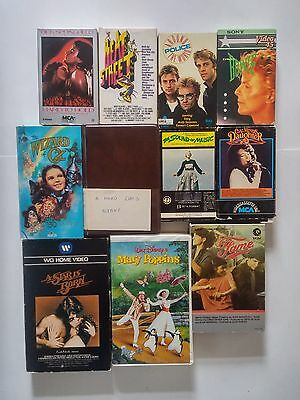 11 Beta Lot (NOT VHS) Hard Days Night David Bowie The Police Beat Street Musical