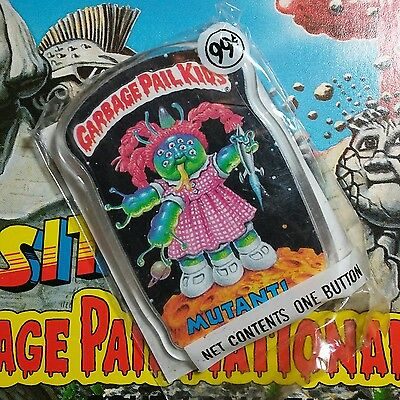 New & unopened vintage 1986 Garbage Pail Kids button MUTANT pin 1980's Topps