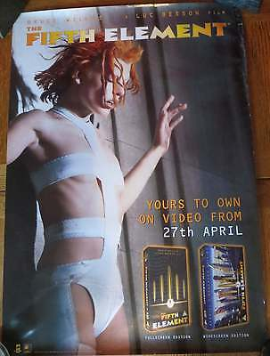 Luc Besson - Fifth Element - Rare Nineties Video Promo Poster  - Milla Jovovich