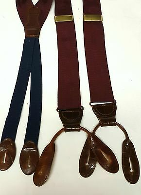 MARTIN DINGMAN- Maroon Woven Stripe Silk, Adjustable Formal Suspenders