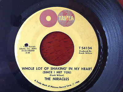 "Miracles - Whole Lot Of Shakin' In My. Mod Northern Soul RnB 45 7"" Tamla Globe"