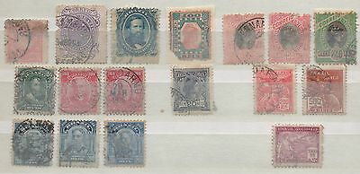 Brazil seventeen early stamps unsorted