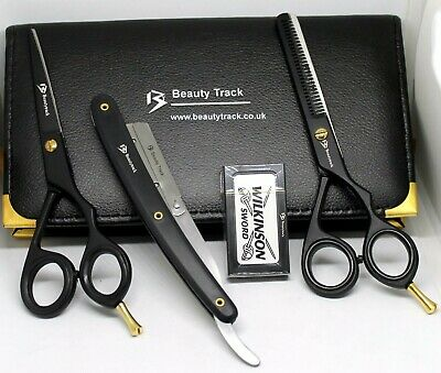 5.5 Professional Salon Hairdressing Hair-Cutting Thinning Barber Scissors Razors