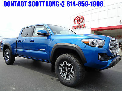 2017 Toyota Tacoma 2017 Long Bed 4x4 3.5L Navigation Off-Road 4WD New 2017 Tacoma Double Cab Long Bed 4x4 Nav TRD Off Road Rear Diff Lock Blue 4WD