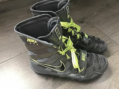 Nike Hyper Ko Boxing Boot Grey/Black/Volt Size 7