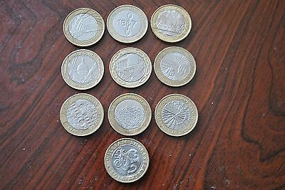 Nice Set Of Collectable £2 Pound Coins-Circulated