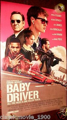 "Baby Driver (2017) 27"" X 40"" Ds Poster Double Sided"