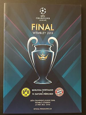 2013 Champions League. Final. Dortmund, 1 - Bayern, 2. official programma