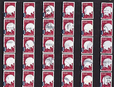 Australia 2016, Animals Monotremes Collection Of 30 $2.95 Mostly Fine Used,5 S/A