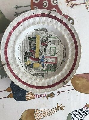 A 19th Century English China Child's Abstinence Plate