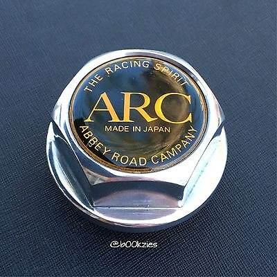 Rare Arc Brazing Polished V1 Vintage Aluminum Oil Cap Toyota Jdm Tom's Trd