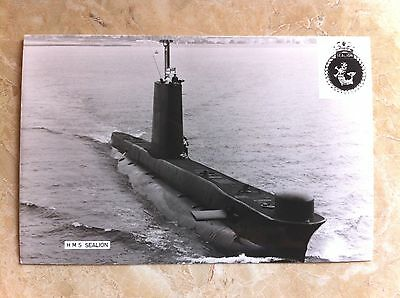 HMS Sealion. Real Photographic Postcard
