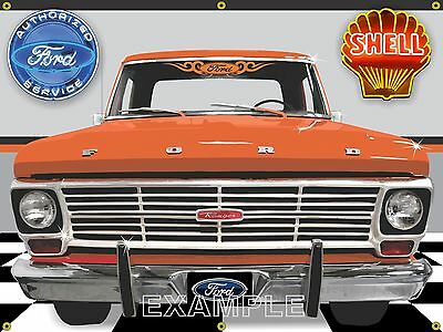 Signs plaques automobilia transportation collectibles for Garage ford orange