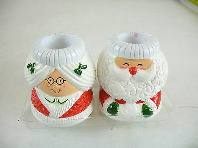 Mr. and Mrs Clause Candle Holders Hallmark Cards Inc.