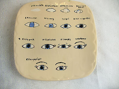 Ceramic Plate How to paint an eye