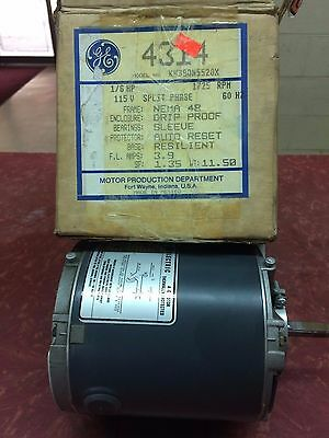 Ge 4314 1/6Hp 1725Rpm 115V Electric Motor - Free S&h