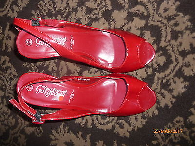 New Look ladies red shoes Size 39/6