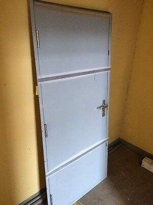 SECURALL Mortise Steel Door with Steel Frame RHR 36 x 80 In. NEW FREE SHIPPING
