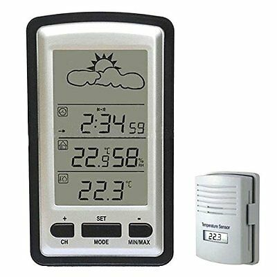 New Digital Wireless Weather Station Sensor Thermometer Humidity Indoor Outdoor
