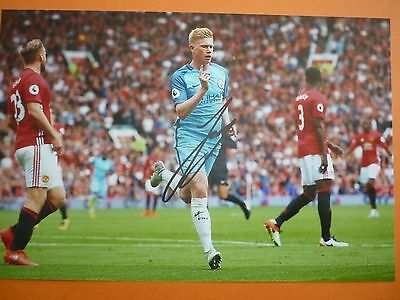 Manchester City Kevin De Bruyne hand signed photo 12x8