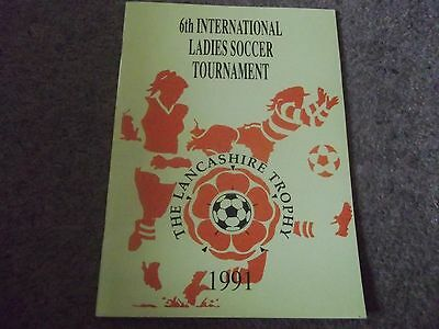 6Th International Ladies Soccer Tournament 1991 The Lancashire Trophy Myerscough