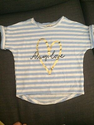 Baby Girls River Island Top T-shirt Size 3-6 Months