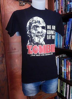 T-SHIRT ZOMBIE Lucio Fulci Vintage-Retro-Used 80s HORROR MOVIE