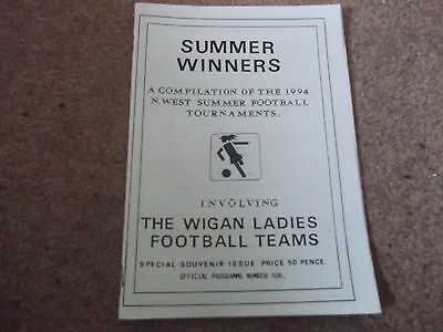 1994 North West Football Womens Winners Wigan Blackburn Rovers Tranmere Man Utd