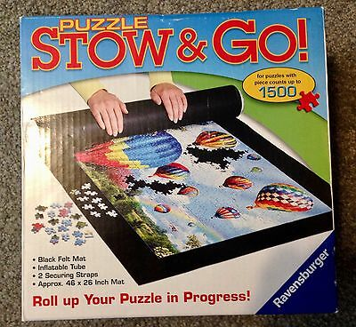 "Ravensburger Stow and Go Puzzle Mat Giant 46"" x 26""  Storage System Black"