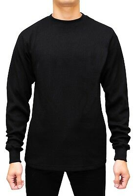 NWT Men's Long Sleeve Thermal Crew Neck Top  Underwear Waffle Material