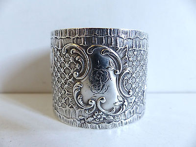 Superb Antique French All Sterling Silver 950 Napkin Ring