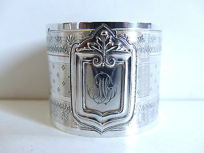 SUPERB ANTIQUE FRENCH ALL STERLING SILVER 950 NAPKIN RING n2