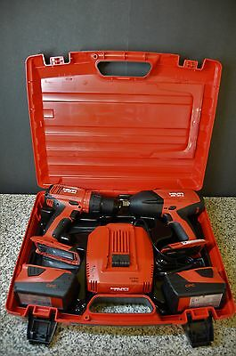 Hilti Kit SIW 18T-A Impact Wrench & SF 6H-A22 Hammer Drill w/CASE, 2 Batteries