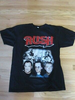 Vintage Rush  Concert Tour T-Shirt Black With Faces