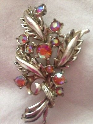 """VINTAGE BOUQUET BROOCH Stamped """"HOLLYWOOD"""" By Joseff Hollywood Collection."""