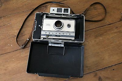 Vintage Polaroid Automatic 350 Land Camera with Flash, Zeiss Glass View Finder