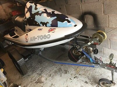 Polaris Slh 700 Jet ski Watercraft Excellent Boat And Snipe Roller Trailer