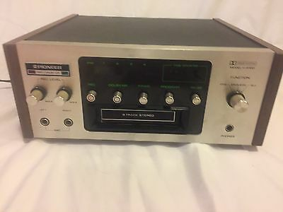 Vintage Pioneer 8 Track Player Recording Deck Model H-R110