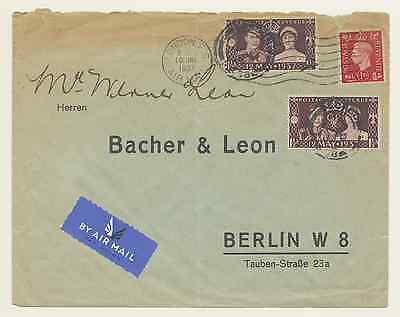 Cover from London (Great Britain) to Berlin/Germany, 1937 [#A077]