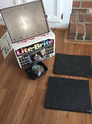 Vintage 1986 Light Brite Working With Pegs Completed And Unused Sheets