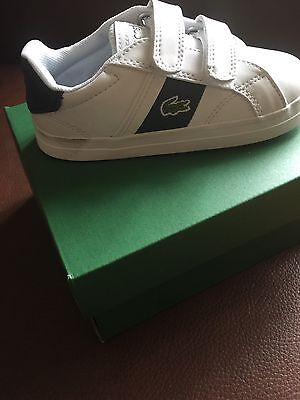 LACOSTE Boys Trainers 👟 Size 8