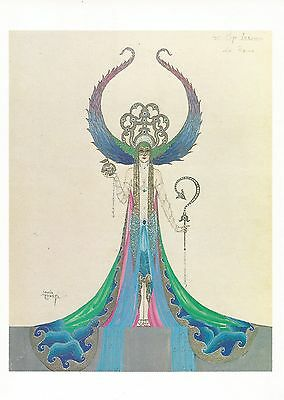 Costume design by Louis Curti for the Folies Bergere Paris,  (1970s V & A card)