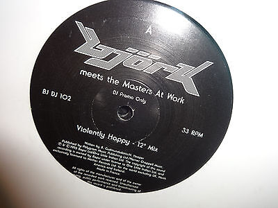 """Bjork meets the Masters At Work Violently Happy 10"""" Promo"""