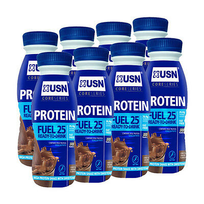 USN RTD Pure Protein Fuel 25 - 8 x 330ml Bottle Strawberry