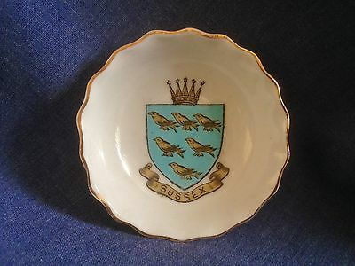 W H Goss. Crested China. Sussex. Bowl. Cheesman and Co Bighton