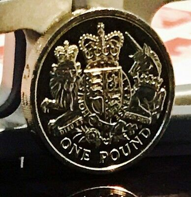 2015 £1 Coin Royal Coat Of Arms The Last Circulated One Pound