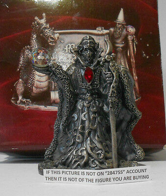 Myth And Magic - Moon Wizard Boxed Figure By Tudor Mint Rare