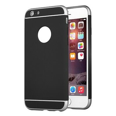 For iPhone 6 Plus 6s + Tough Shockproof Armor Heavy Duty Case Cover Back Black