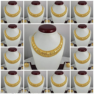 Gold Plated Necklace Earrings set Indian Ethnic Jewelry 12 sets Lot Low Price