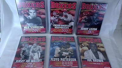 """DeAGOSTINI""""S BOXERS- SIX UNDISPUTED DVD COLLECTION - LISTON/BROWN/WALCOTT..ETC."""
